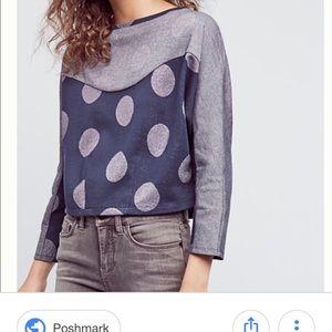 Anthropologie Postmark Polka Dots Sweatshirt.